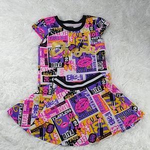 House of Dereon skirt set